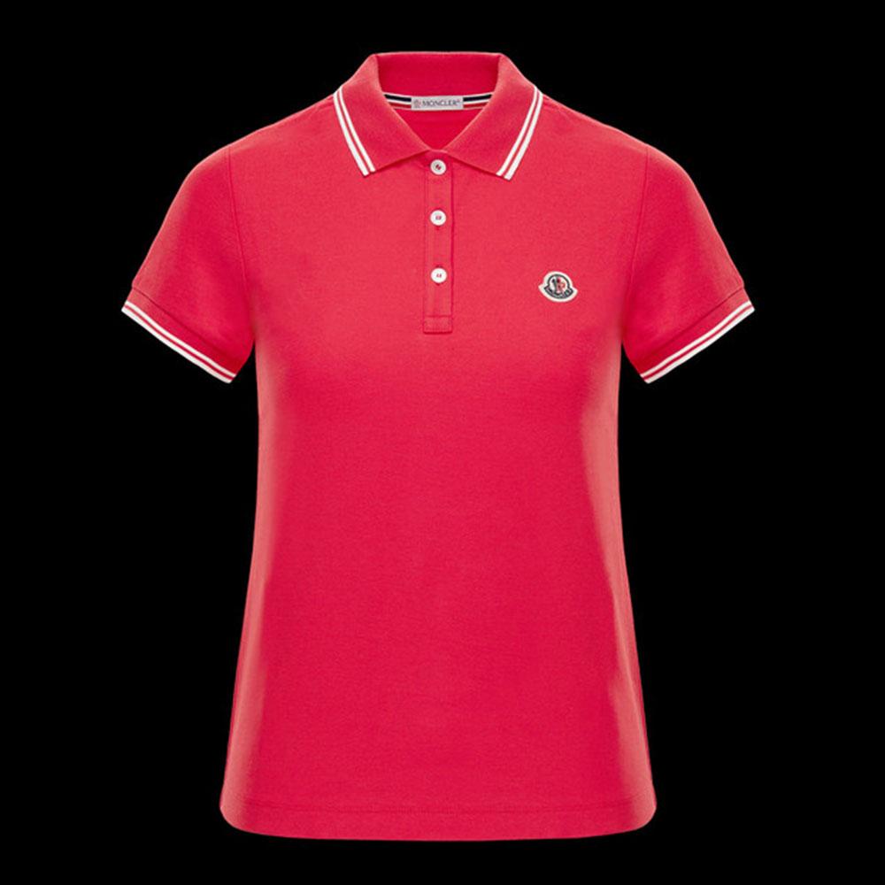 Moncler Polo Tişört Pembe - 37 #Moncler #MonclerPolo #Tişört