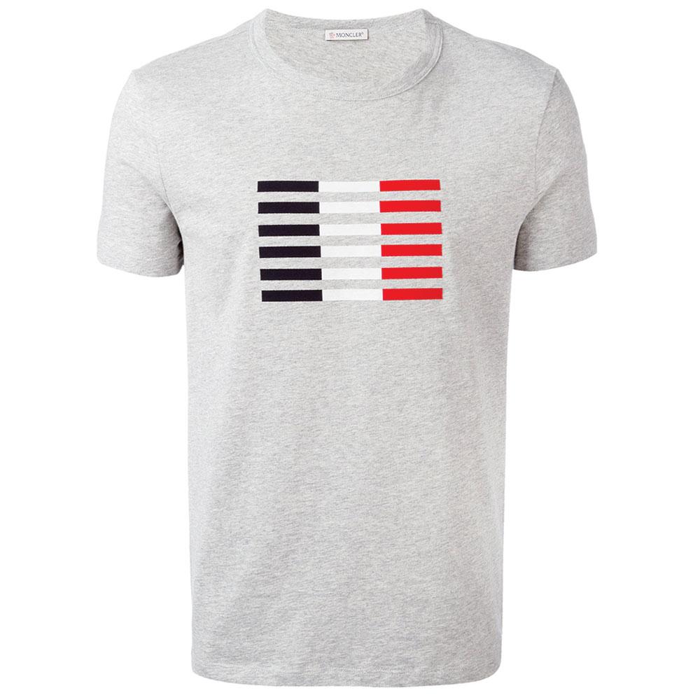 Moncler Logo Tişört Gri - 31 #Moncler #MonclerLogo #Tişört