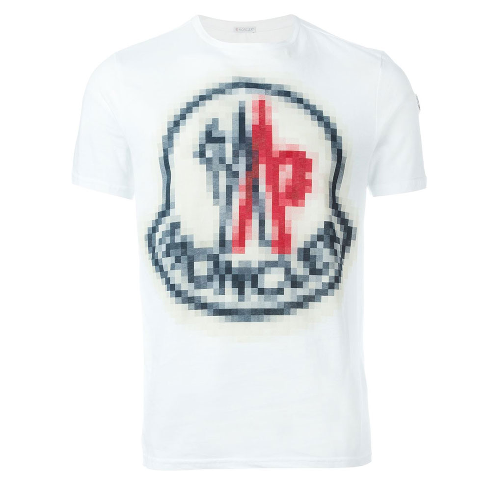 Moncler Pixelated Tişört White - 10 #Moncler #MonclerPixelated #Tişört