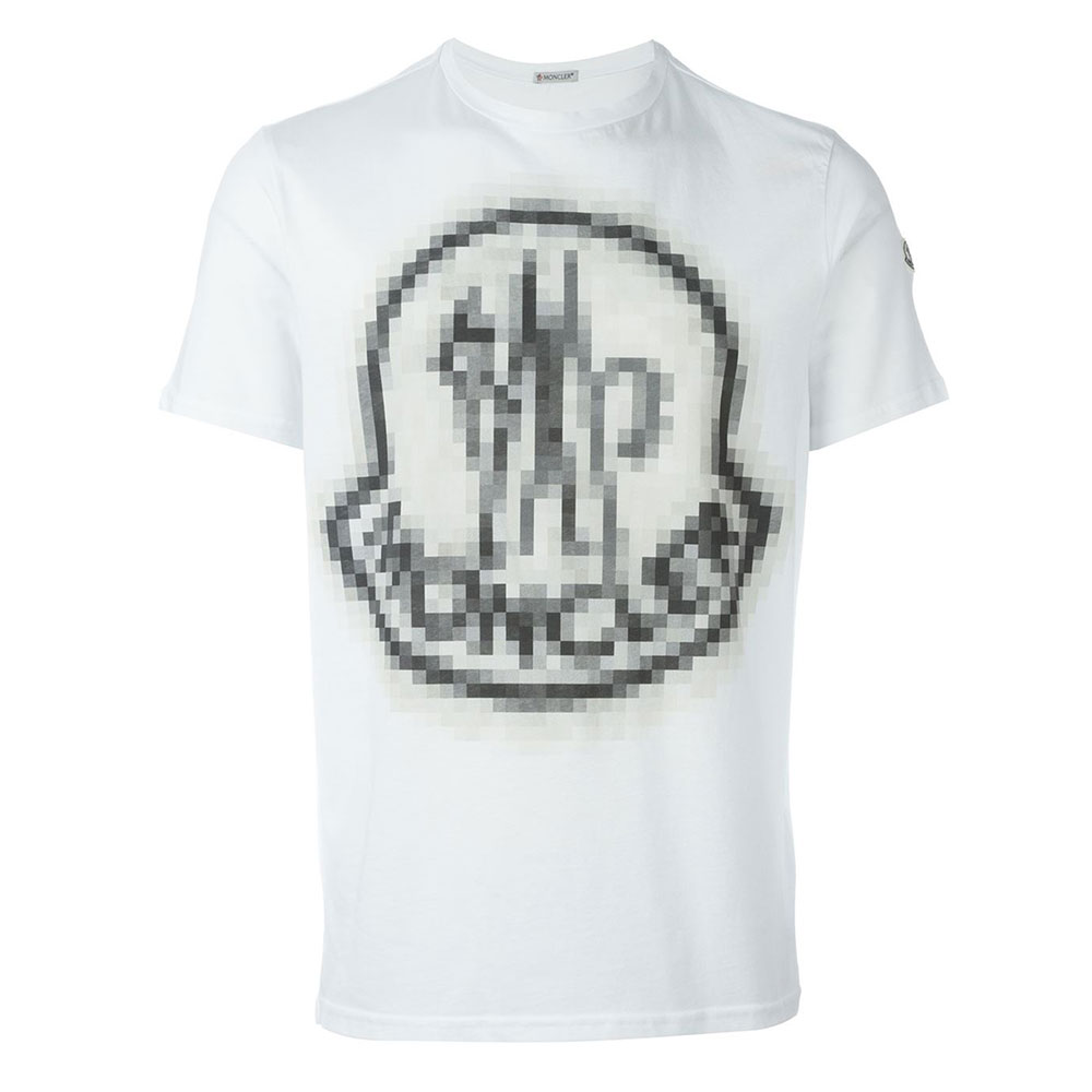 Moncler Pixelated Tişört White - 12 #Moncler #MonclerPixelated #Tişört