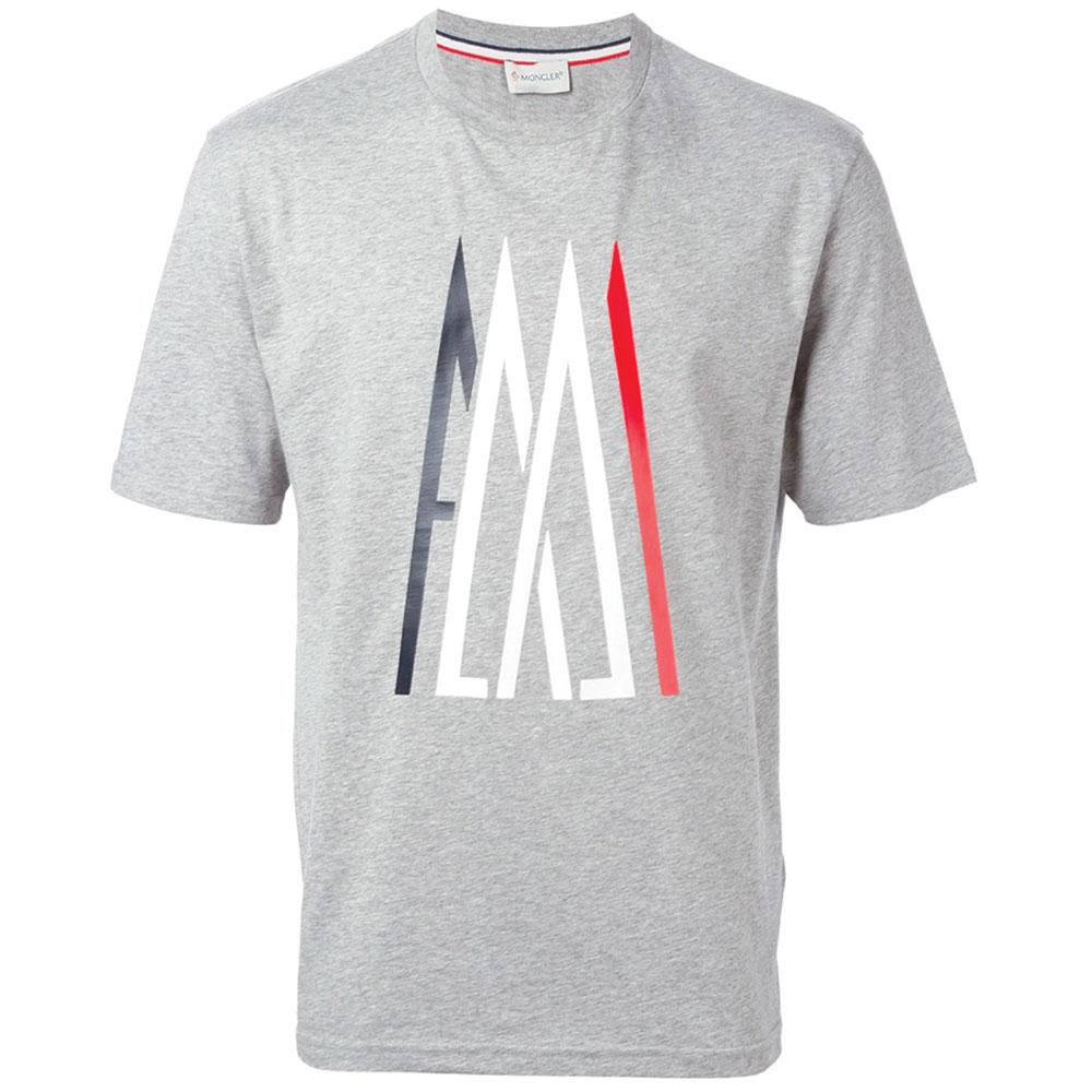 Moncler Logo Tişört Gri - 29 #Moncler #MonclerLogo #Tişört