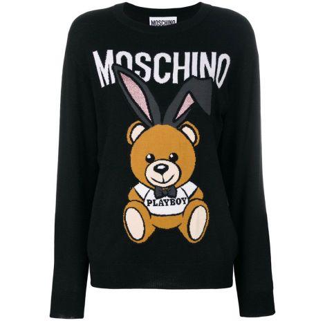 Moschino Kazak Playboy Siyah #Moschino #Kazak #MoschinoKazak #Kadın #MoschinoPlayboy #Playboy