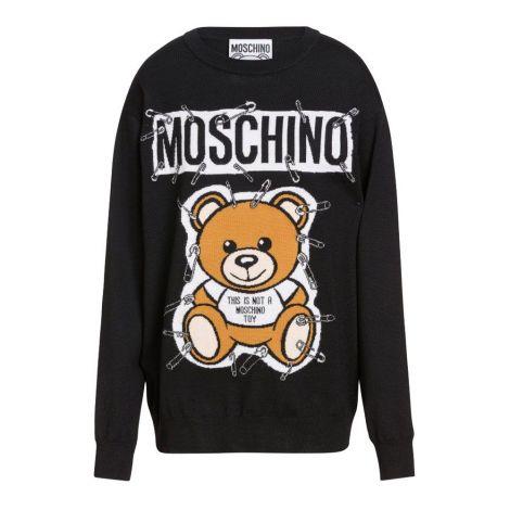 Moschino Kazak Teddy Siyah #Moschino #Kazak #MoschinoKazak #Kadın #MoschinoTeddy #Teddy