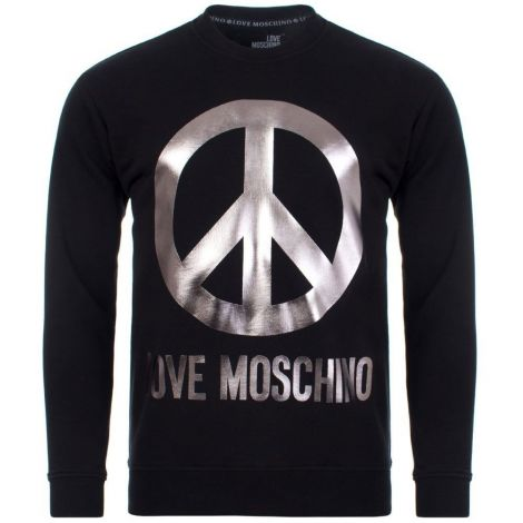 Moschino Sweatshirt Metallic Siyah #Moschino #Sweatshirt #MoschinoSweatshirt #Erkek #MoschinoMetallic #Metallic