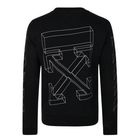 Off White Sweatshirt 3D Siyah #OffWhite #Sweatshirt #OffWhiteSweatshirt #Erkek #OffWhite3D #3D