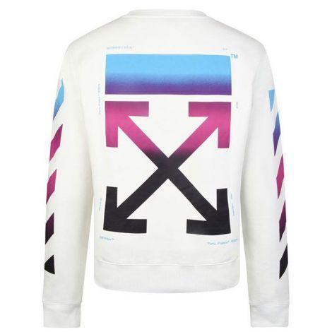 Off White Sweatshirt Gradient Beyaz #OffWhite #Sweatshirt #OffWhiteSweatshirt #Erkek #OffWhiteGradient #Gradient