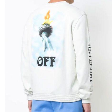 Off White Sweatshirt Liberty Beyaz #OffWhite #Sweatshirt #OffWhiteSweatshirt #Erkek #OffWhiteLiberty #Liberty