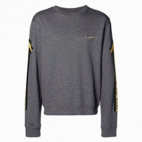 Off White Sweatshirt Arrows Gri - Off White Sweatshirt Erkek Yellow Arrows Gri 2021