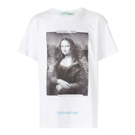 Off White Tişört Mona Lisa Beyaz #OffWhite #Tişört #OffWhiteTişört #Erkek #OffWhiteMona Lisa #Mona Lisa