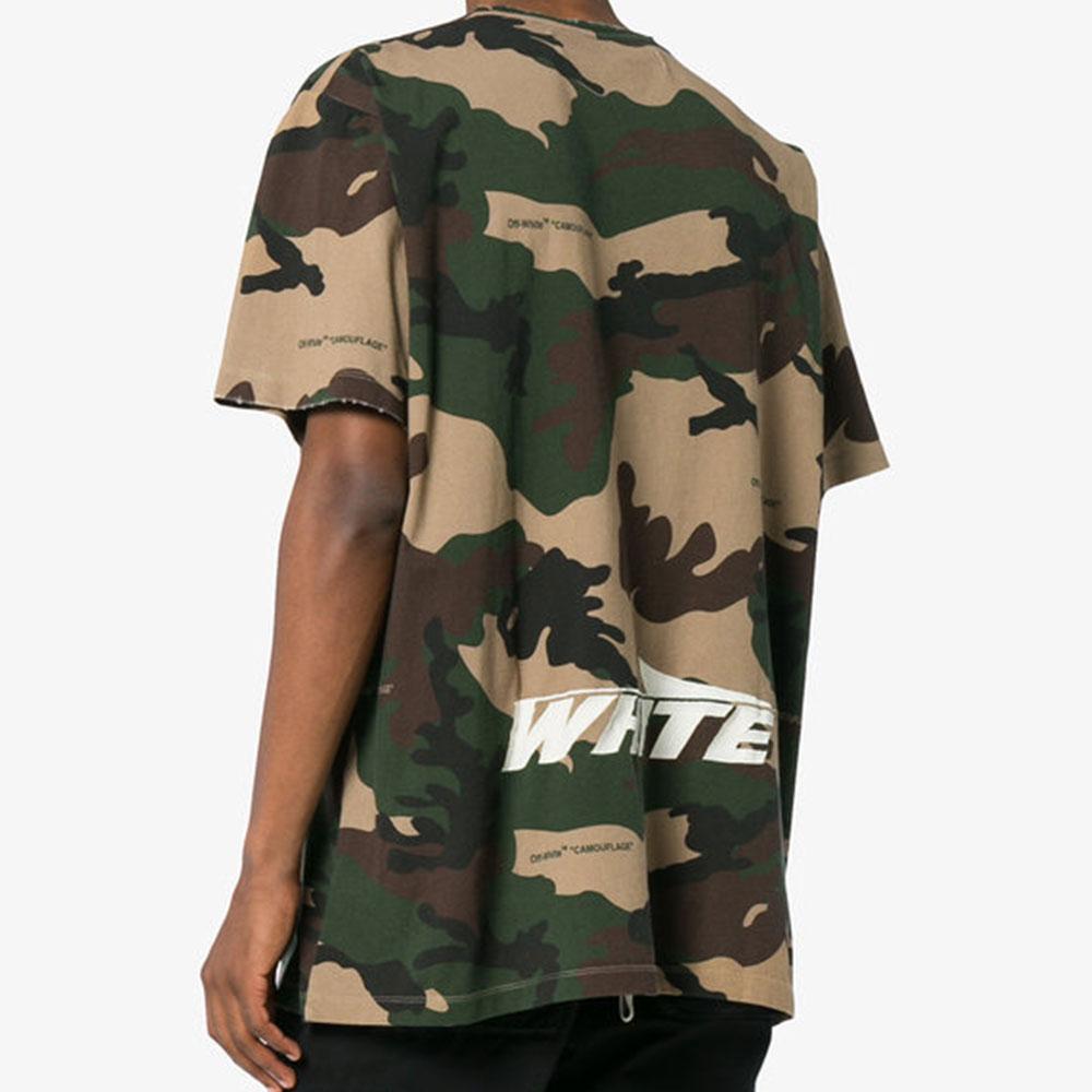 Off White Camouflage Tişört Yeşil - 6 #Off White #OffWhiteCamouflage #Tişört - 2