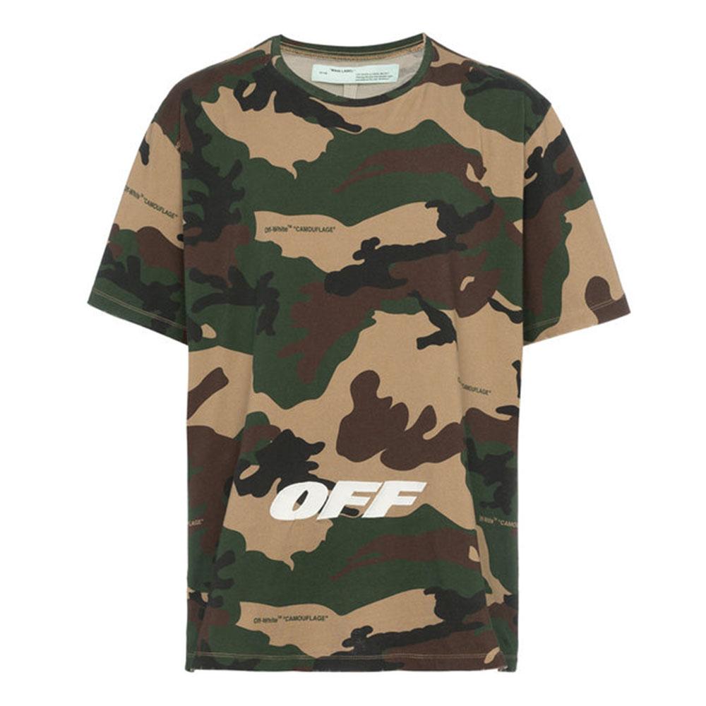 Off White Camouflage Tişört Yeşil - 6 #Off White #OffWhiteCamouflage #Tişört