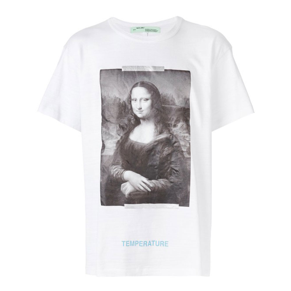 Off White Mona Lisa Tişört Beyaz - 2 #Off White #OffWhiteMonaLisa #Tişört