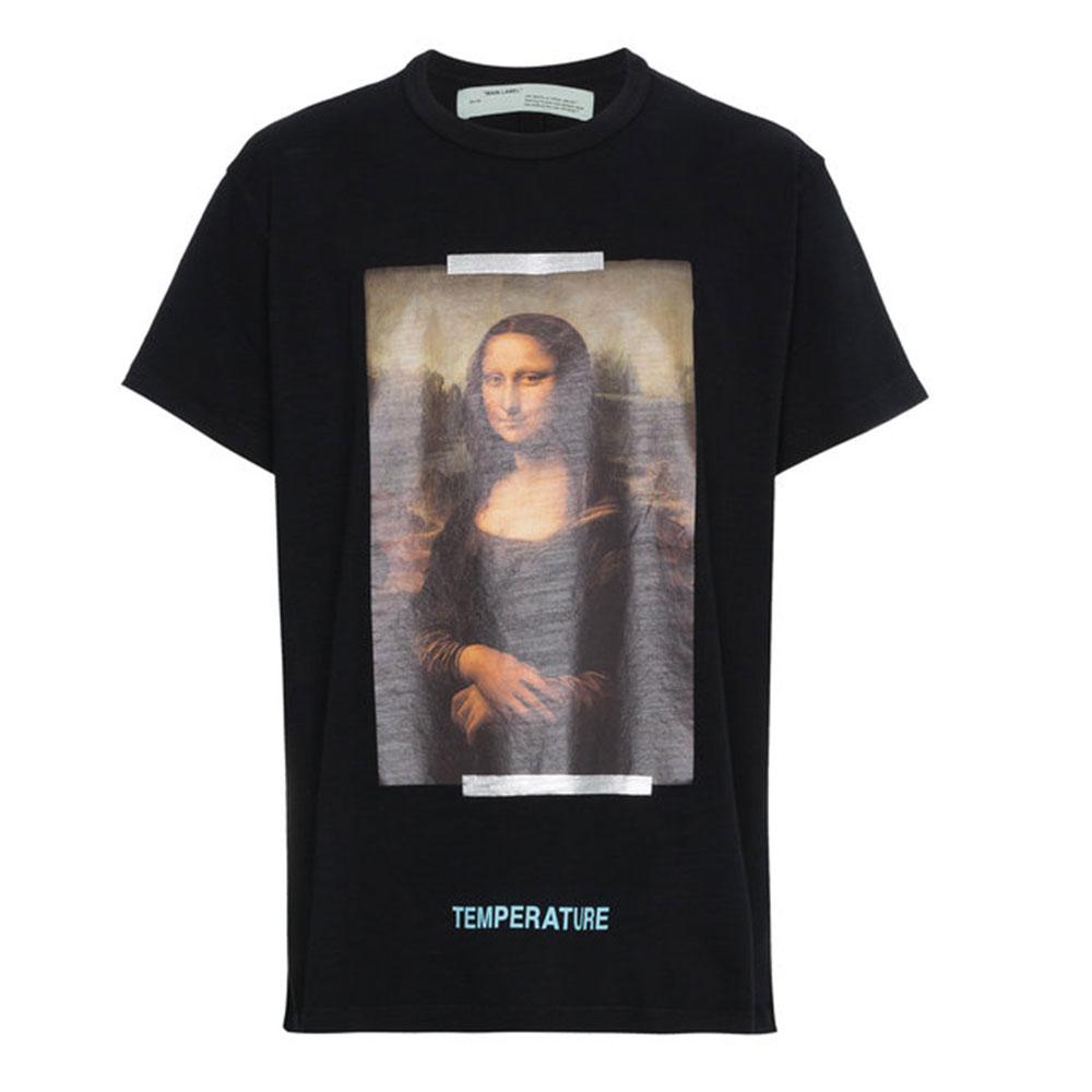 Off White Mona Lisa Tişört Siyah - 10 #Off White #OffWhiteMonaLisa #Tişört
