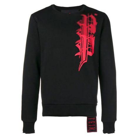 Philipp Plein Sweatshirt Logo Siyah #PhilippPlein #Sweatshirt #PhilippPleinSweatshirt #Erkek #PhilippPleinLogo #Logo