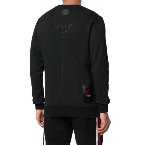 Philipp Plein Sweatshirt Stars Siyah #PhilippPlein #Sweatshirt #PhilippPleinSweatshirt #Erkek #PhilippPleinStars #Stars