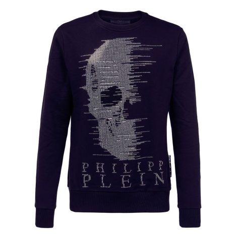 Philipp Plein Sweatshirt Skull Lacivert #PhilippPlein #Sweatshirt #PhilippPleinSweatshirt #Erkek #PhilippPleinSkull #Skull