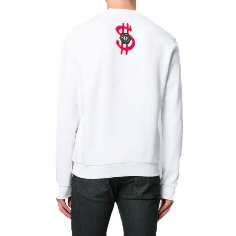 Philipp Plein Sweatshirt Monopoly Beyaz #PhilippPlein #Sweatshirt #PhilippPleinSweatshirt #Erkek #PhilippPleinMonopoly #Monopoly