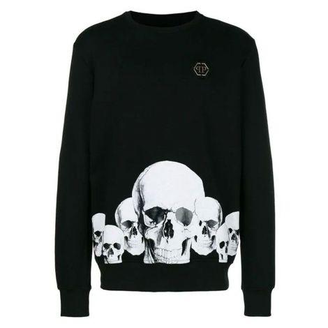 Philipp Plein Sweatshirt Skull Siyah #PhilippPlein #Sweatshirt #PhilippPleinSweatshirt #Erkek #PhilippPleinSkull #Skull