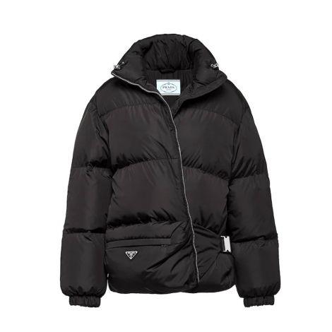 Prada Mont Puffer Siyah - Prada Kadin Mont Lightweight Nylon Puffer Jacket Siyah