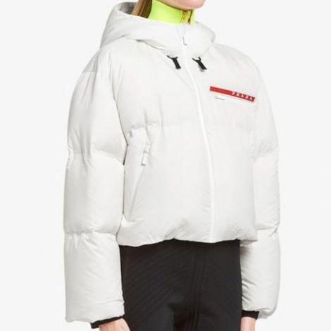 Prada Mont Bonded Beyaz - Prada Mont Kadin Bonded Nylon Jacket Beyaz
