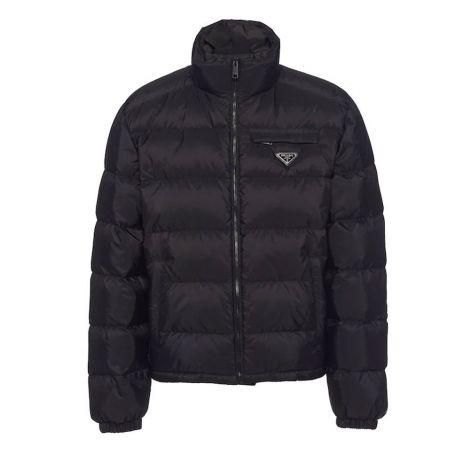 Prada Mont Re-Nylon Siyah - Prada Mont Renylon Cropped Puffer Jacket Siyah