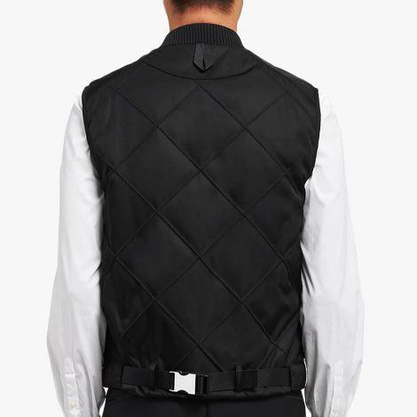 Prada Yelek Zipped Siyah - Prada Yelek Padded Zipped Vest Siyah
