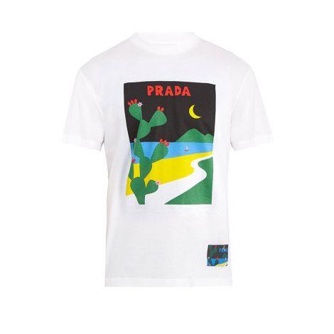 Prada Tişört Moon Beyaz #Prada #Tişört #PradaTişört #Erkek #PradaMoon #Moon