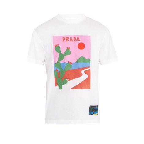 Prada Tişört Cactus Beyaz #Prada #Tişört #PradaTişört #Erkek #PradaCactus #Cactus
