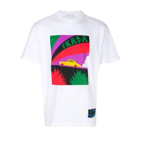 Prada Tişört Car Beyaz #Prada #Tişört #PradaTişört #Erkek #PradaCar #Car
