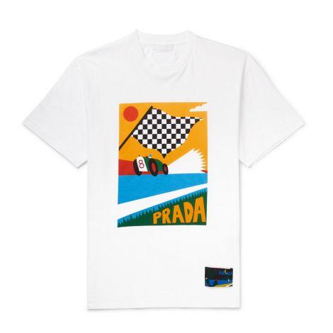 Prada Tişört Jersey Beyaz #Prada #Tişört #PradaTişört #Erkek #PradaJersey #Jersey