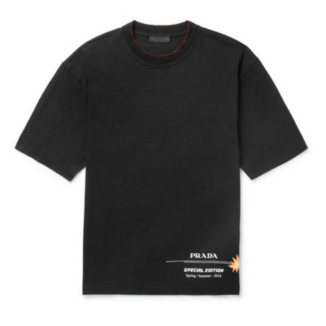 Prada Tişört Jersey Siyah #Prada #Tişört #PradaTişört #Erkek #PradaJersey #Jersey