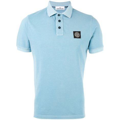 Stone Island Tişört Polo Açık-Mavi #StoneIsland #Tişört #StoneIslandTişört #Erkek #StoneIslandPolo #Polo