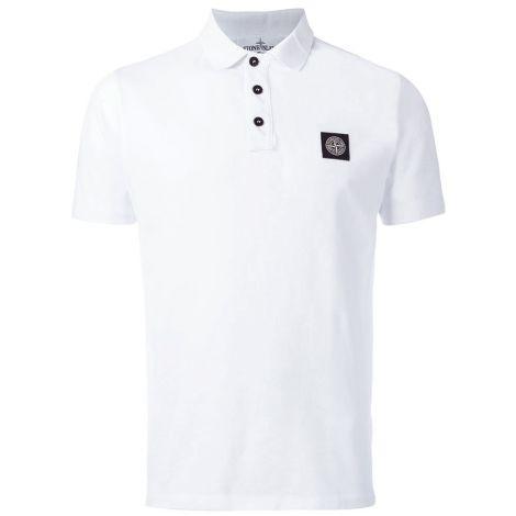 Stone Island Tişört Polo Beyaz #StoneIsland #Tişört #StoneIslandTişört #Erkek #StoneIslandPolo #Polo