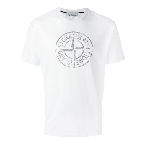 Stone Island Tişört Logo Beyaz #StoneIsland #Tişört #StoneIslandTişört #Erkek #StoneIslandLogo #Logo