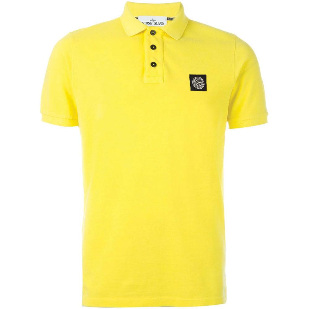 Stone Island Polo Tişört Sarı - 10 #Stone Island #StoneIslandPolo #Tişört