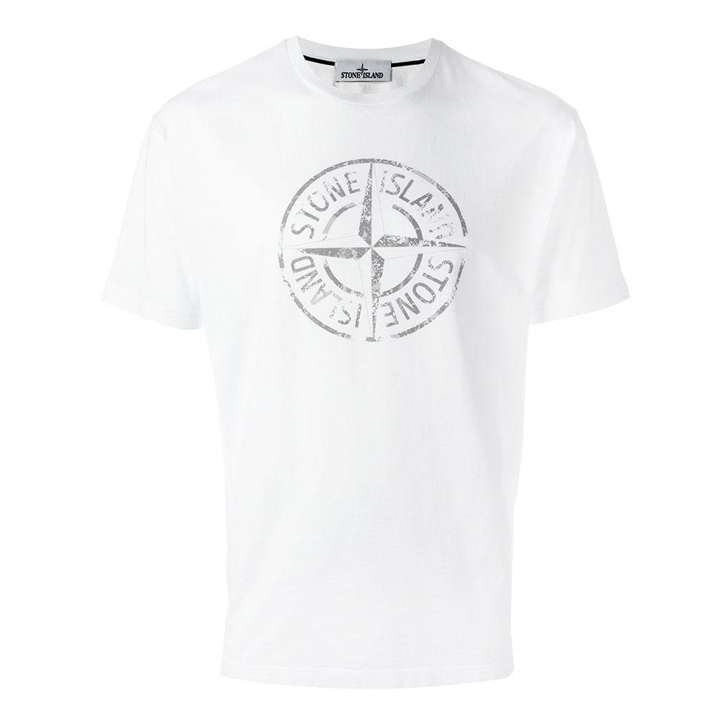 Stone Island Logo Tişört Beyaz - 3 #Stone Island #StoneIslandLogo #Tişört