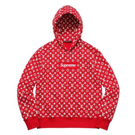 Supreme Louis Vuitton Sweatshirt Kırmızı #SupremeLouisVuitton #Sweatshirt #SupremeLouisVuittonSweatshirt #Unisex #SupremeLouisVuitton #