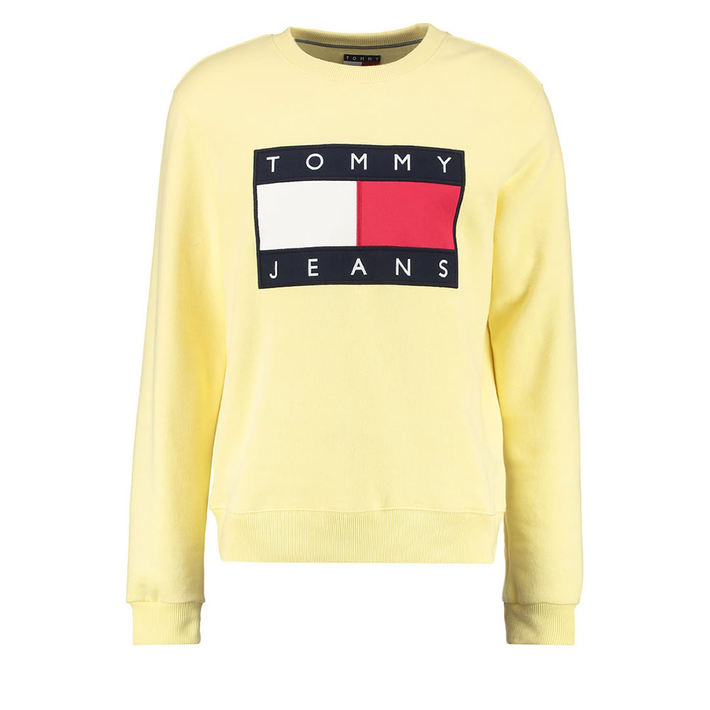 Tommy Hilfiger 90s Sweatshirt Sarı - 22 #Tommy Hilfiger #TommyHilfiger90s #Sweatshirt