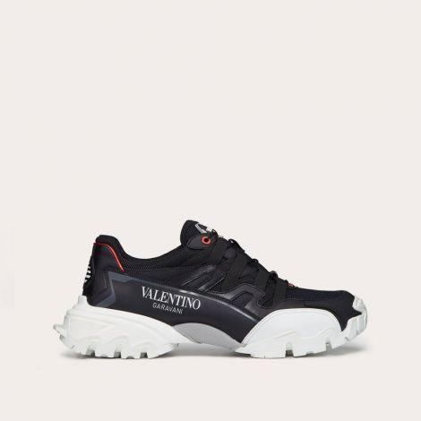 Valentino Ayakkabı Climbers Siyah - Valentino Ayakkabi Fabric And Leather Climbers Sneaker Beyaz Siyah