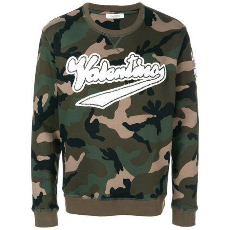 Valentino Sweatshirt Logo Yeşil #Valentino #Sweatshirt #ValentinoSweatshirt #Erkek #ValentinoLogo #Logo