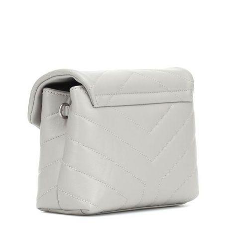 Saint Laurent Çanta Loulou Gri - Ysl Canta Loulou Toy Monogram Leather Shoulder Bag Gri