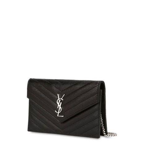 Saint Laurent Çanta Monogram Siyah - Yves Saint Laurent Canta Md Monogram Quilted Leather Bag Siyah